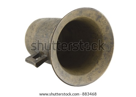Old pestle isolated over white with clipping path - stock photo