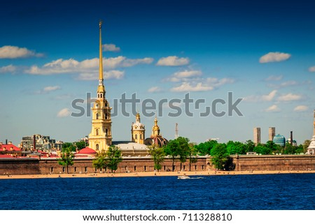Old Peter and Paul fortress in Saint Petersburg, Russia.
