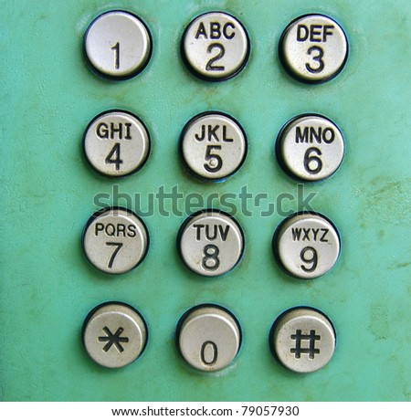 Old phone dial  button background - stock photo
