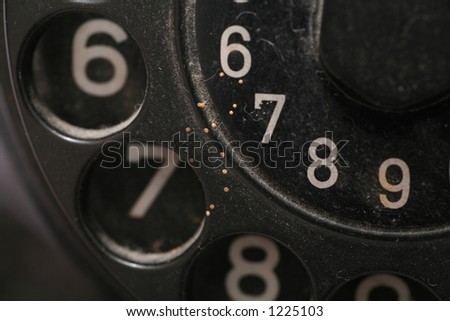 old phone isolated - stock photo