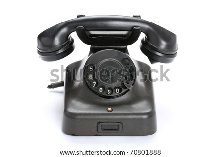 Old Phone on white background