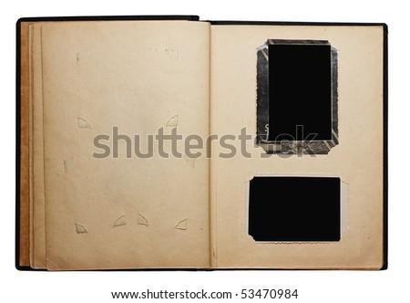 old photo album isolated on white background - stock photo
