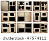 old photo albums set isolated on white background - stock photo