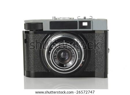 Old photo camera - stock photo