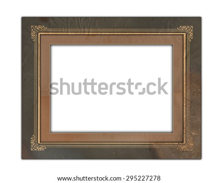 Old photo frame - stock photo