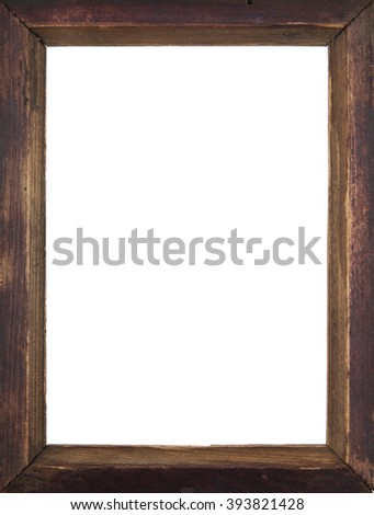 old photo frame isolated on a white background - stock photo