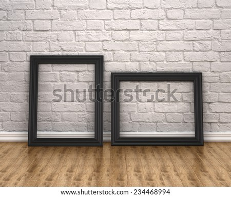 old photo frames - stock photo
