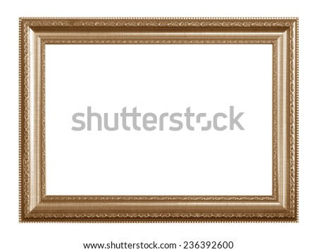 Old photo frames on white background. - stock photo