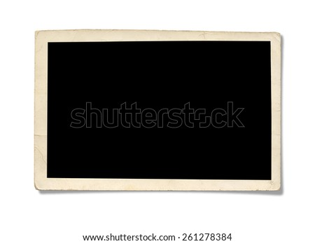 Old Photo. Isolated on white background with clipping path. - stock photo