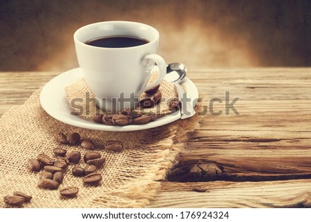 old photo of coffee