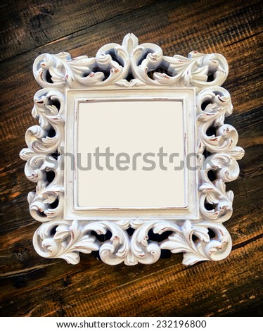 old picture frame with copy space - stock photo