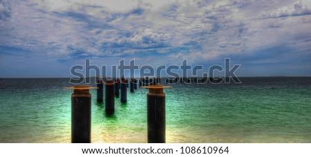 Old Pier ,Perth Western Australia - stock photo