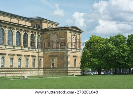 Old Pinakothek as Cultural Symbol in Munich - stock photo