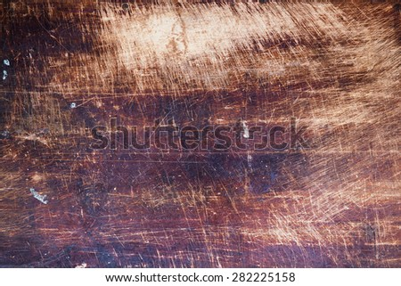 old pine wood rustic background with scratches - stock photo