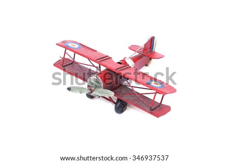 old plane toy isolated