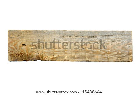 Old plank - stock photo