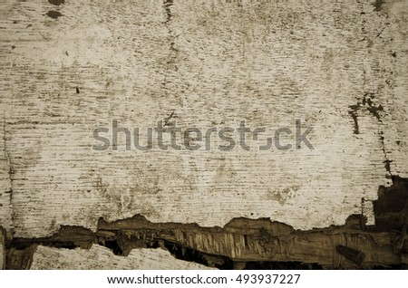 old plank cracked wood board surface dirt and old have a marks nails. As background for writing horror text. Halloween concept.in the dark light.still life photography. old wood boards for background