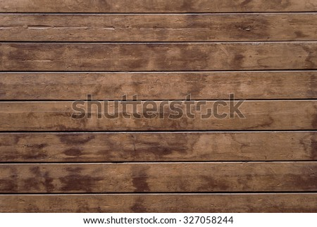 Old plank wooden wall background. Dark brown scratched wooden cutting board. Wood texture. seamless wooden texture of floor or pavement, wooden pallet. Texture of wood background closeup. - stock photo