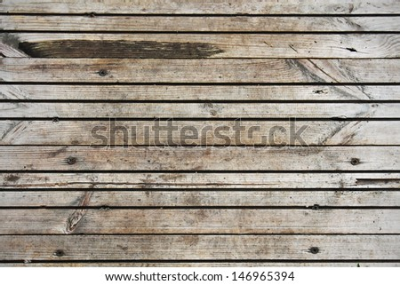 Old planks on the floor