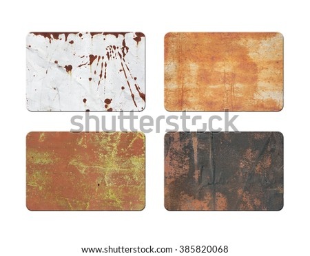 Old plate isolated on white. Retro plate - stock photo