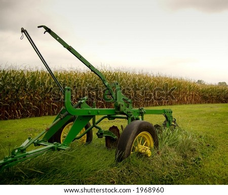Old Plow - stock photo