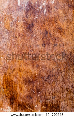 Old plywood background with dust and scratches - stock photo
