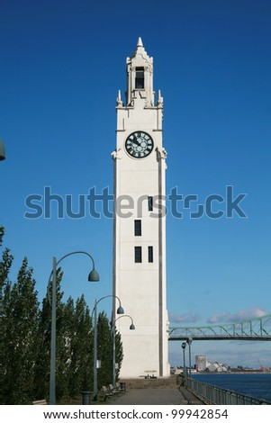 Old Port Clock Tower in Montreal - stock photo