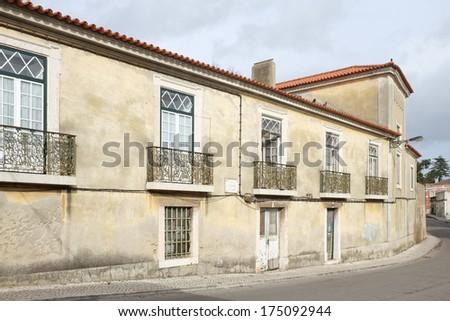 Old Portuguese palace - stock photo
