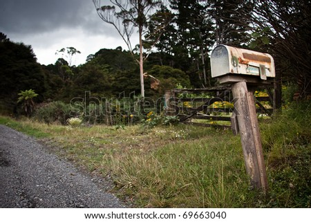 Old Post Box - stock photo