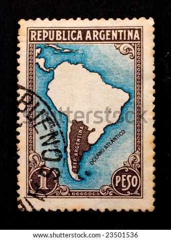 Old postage stamp  of Argentina
