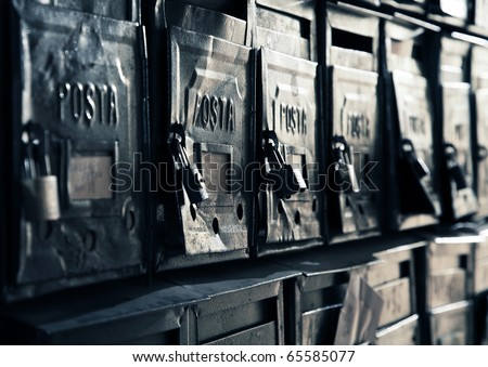 Old postal boxes