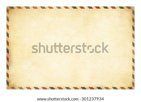 Old postcard template with clipping path included - stock photo