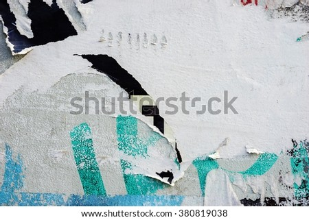 Old posters grunge textures and backgrounds / Ripped posters - stock photo