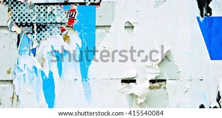Old posters / Ripped paper / Grunge textures and backgrounds - stock photo
