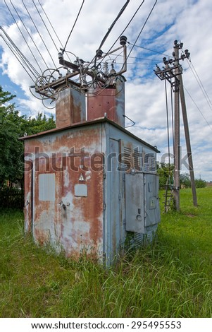 Old power transformer substation