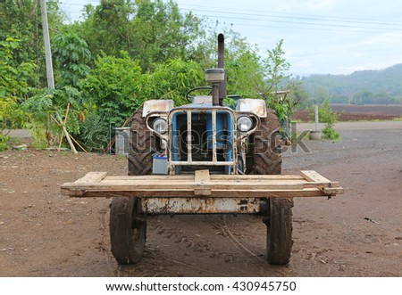 Old powerful tractor
