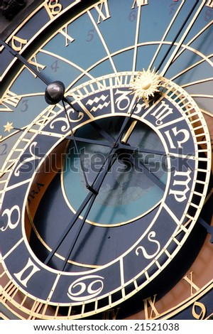 old Prague astronomical clock,Czech Republic