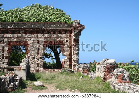 Old Puerto Rico Lighthouse Ruins Near Aguadilla