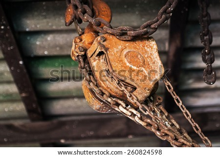old pulley still life . Object  - stock photo
