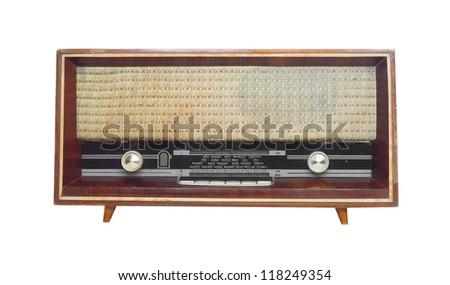 old radio - stock photo