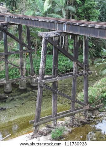 Old Rail Bridge 2 - stock photo
