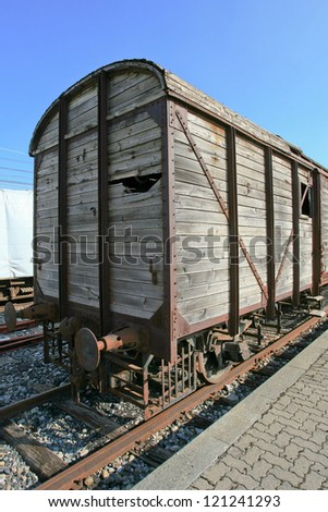 Old rail freight wagon