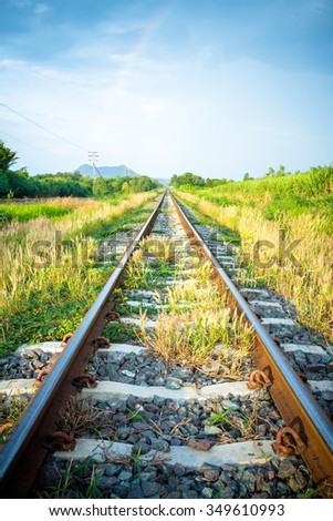 Old railroad in the Asian, Background of transportation.
