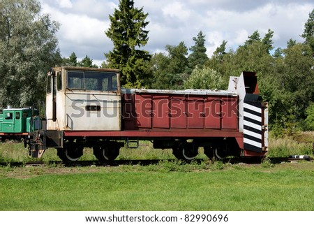 old railway car for carrying goods