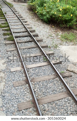 Old Railway in country of Thailand