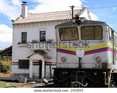 Old railway station in Ecuador - South America