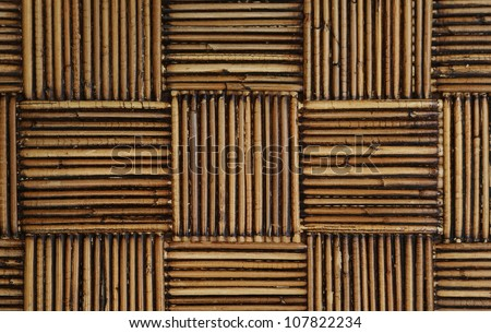 old rattan weaved into a pattern - stock photo