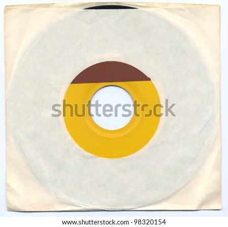 Old 45 Record in Sleeve - stock photo