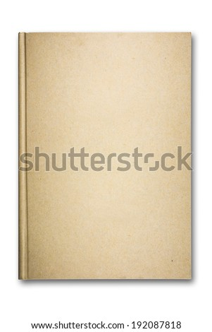 Old recycled brown paper notebook front cover. - stock photo