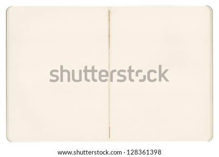 Old recycled graph paper, open notebook - stock photo